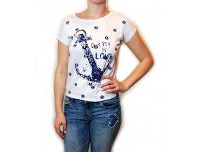 Letní tričko s kotvou bílé 35-1