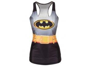 batman print long waistcoat lc25314