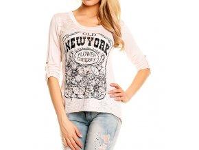 Tričko Made in Italy jemně růžové s potiskem UNI