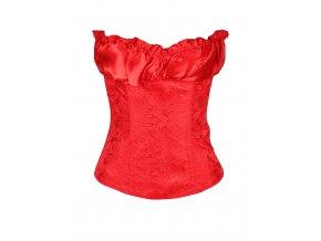 Saténový dámský korzet červený
