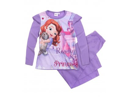 girls disney sofia the first pyjama mauve full 15343