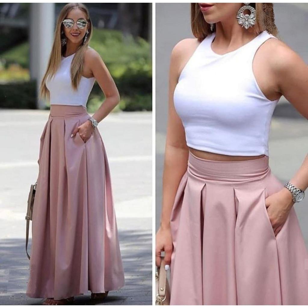 růžová sukně1