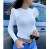 tričko bílé s kanýrky dlouhý rukáv 2