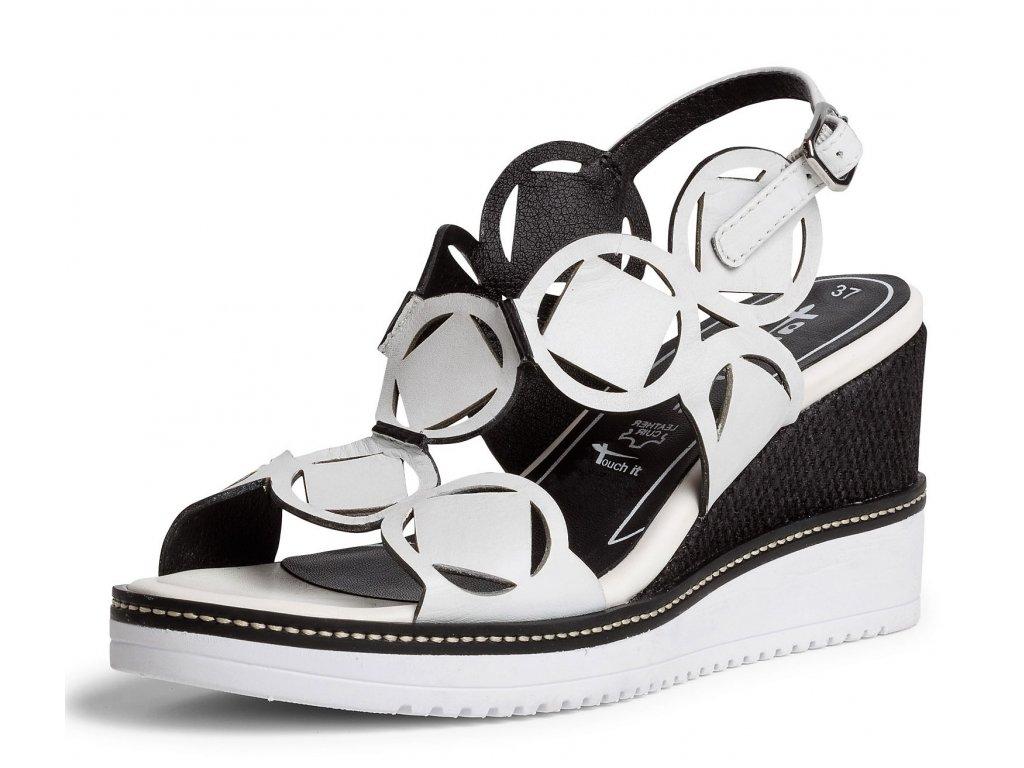 Dámské letní boty TAMARIS, model 1-28312-24 125 white/black