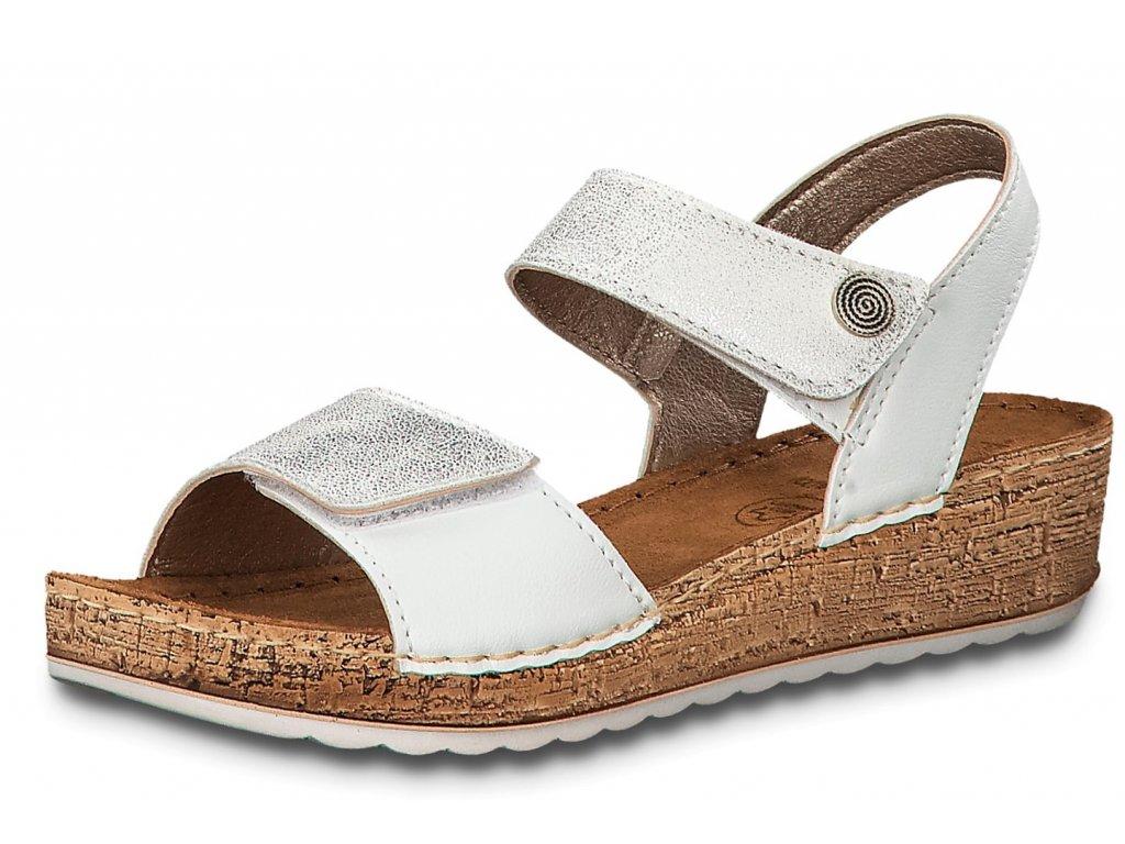 Dámské sandále JANA, model 8-28209-32 191 white/silver