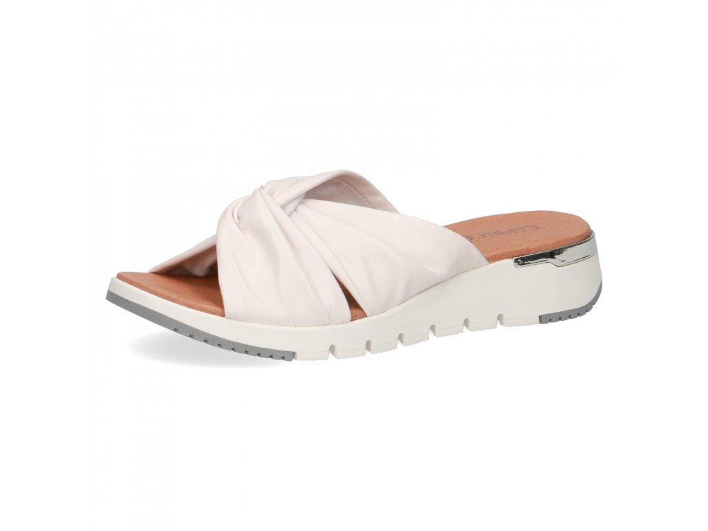 Dámské pantofle CAPRICE, model 9-27203-34 160 white soft nap.
