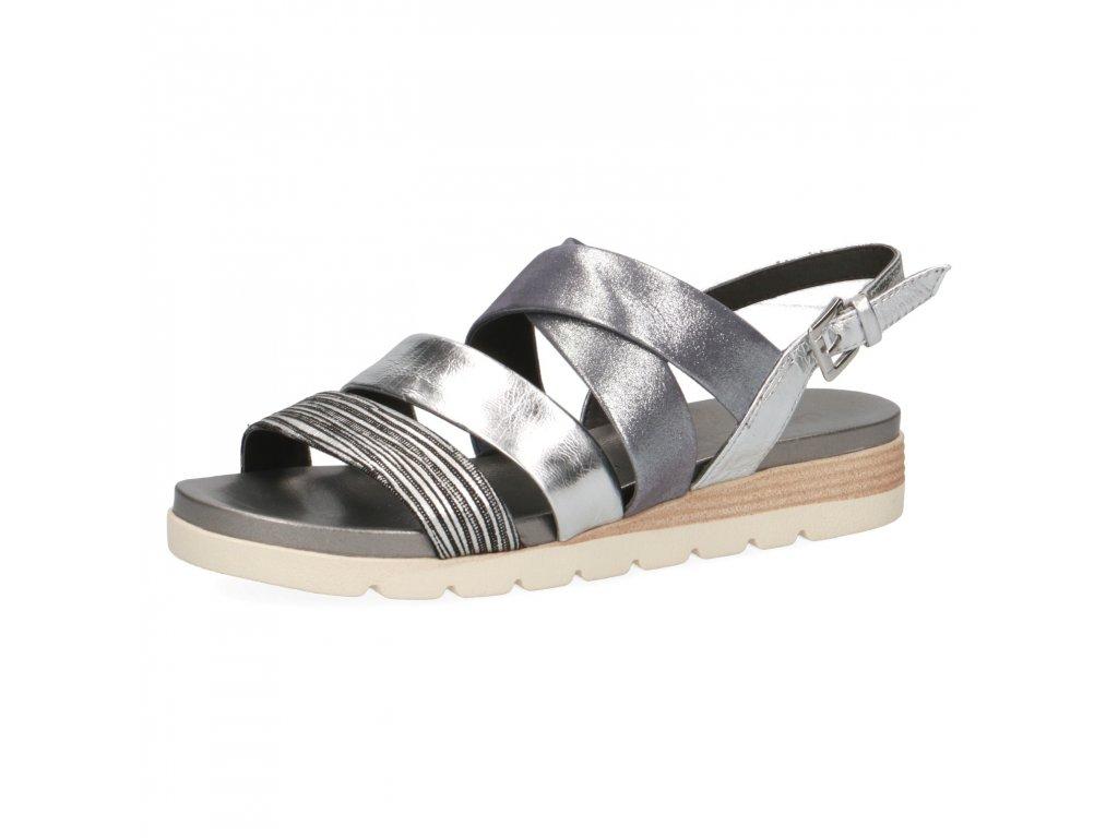 Dámské sandále CAPRICE, model 9-28108-24 943 silver comb