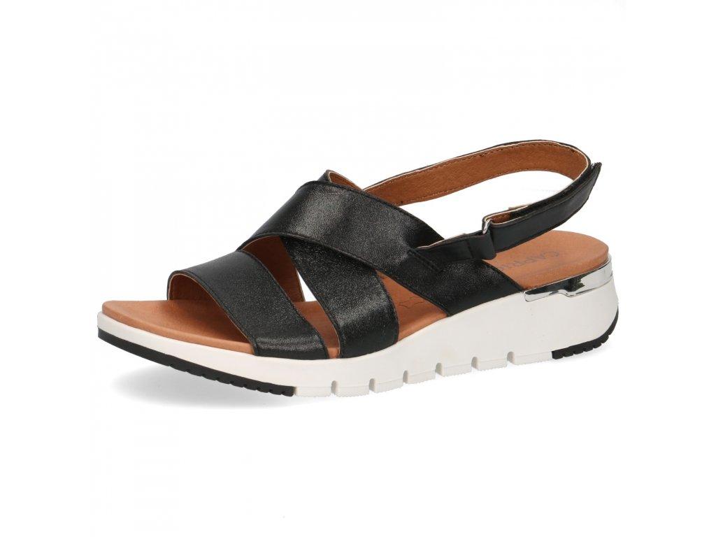 Dámské sandále CAPRICE, model 9-28700-24 091 black metallic