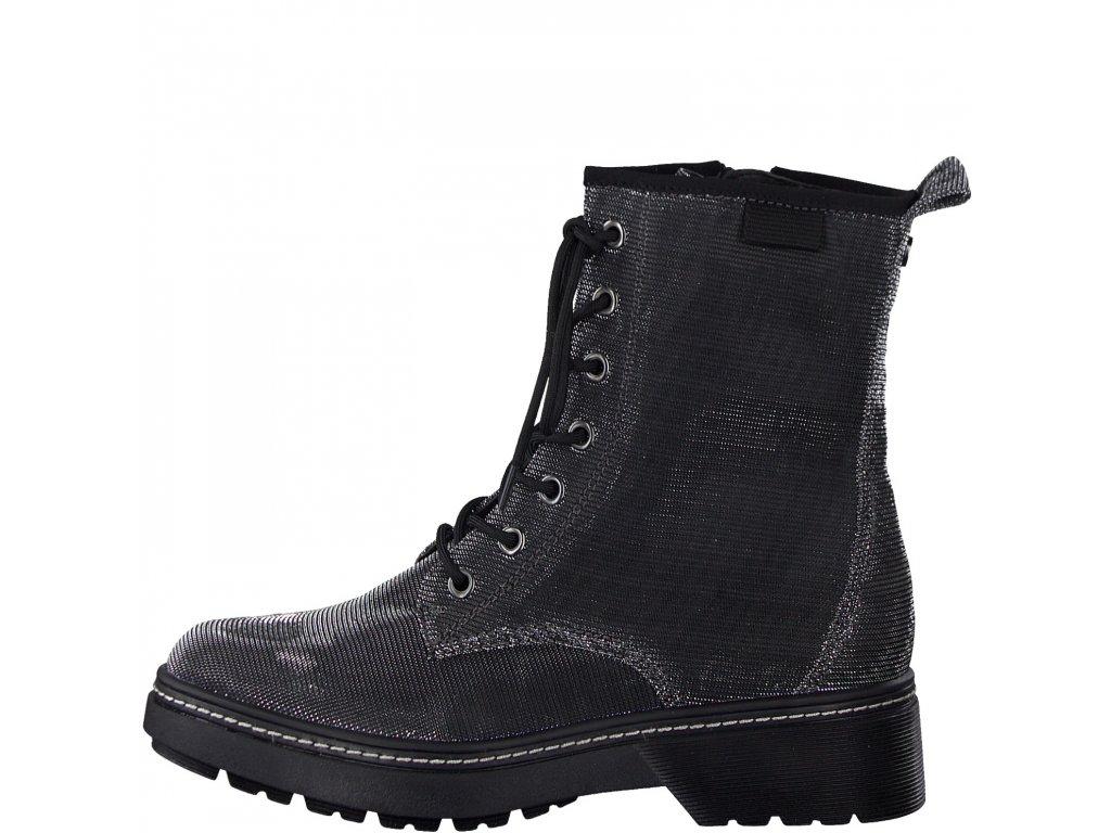 Dámské kotníkové boty TAMARIS, model 1-25254-25 970 platinum glam