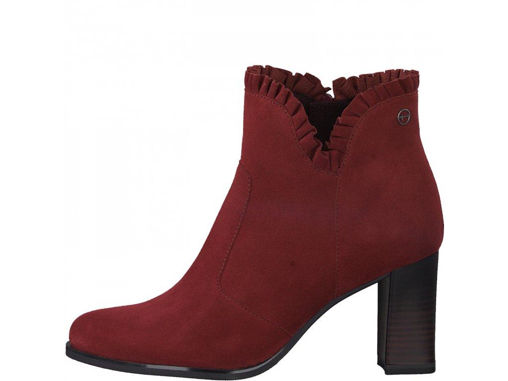 Dámské kotníkové boty TAMARIS, model 1-25325-25 501 scarlet