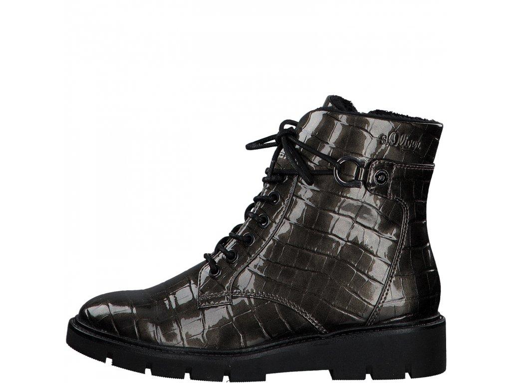 Dámské kotníkové boty s.OLIVER, model 5-25240-25 225 dk grey/croco