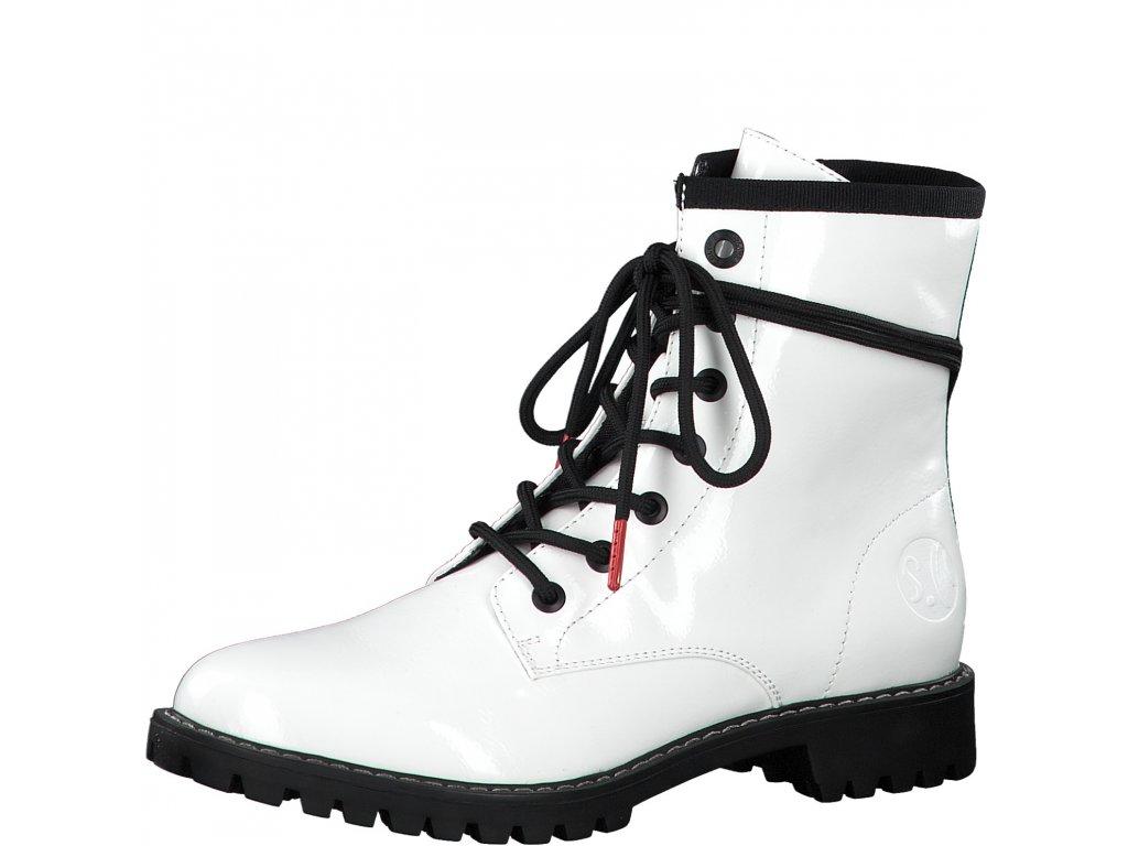 Dámské kotníkové boty s.OLIVER, model 5-25219-25 123 white patent