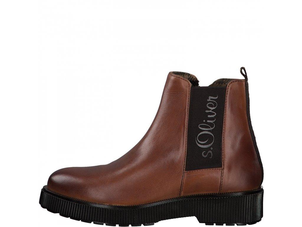Dámské kotníkové boty s.OLIVER, model 5-25416-25 305 cognac