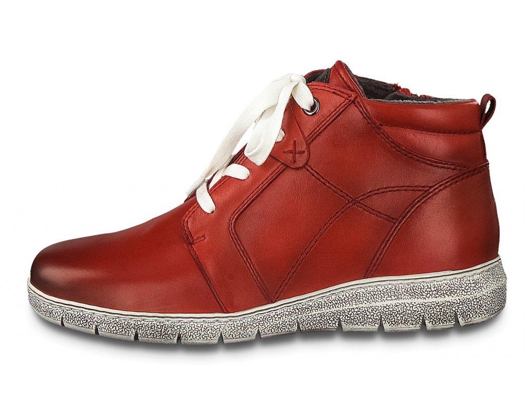 Dámské kotníkové boty JANA, model 8-25233-25 500 red