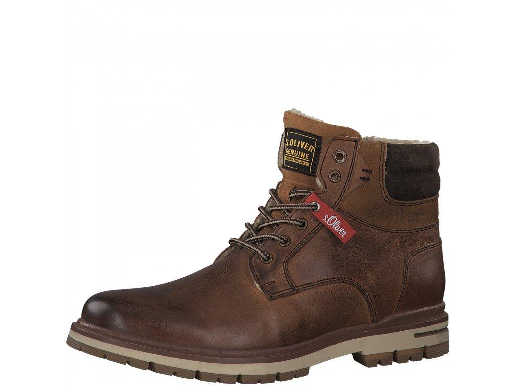 Pánské zimní kotníkové boty S.OLIVER, model 5-16208-23 311 tan