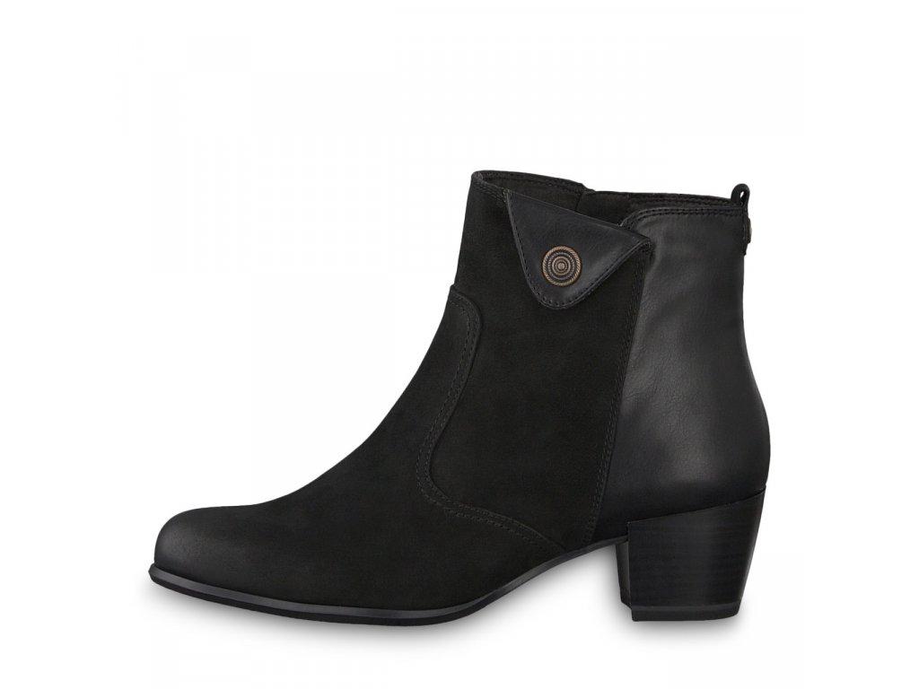 Dámské kotníkové boty TAMARIS, model 1-25337-21 007 black uni