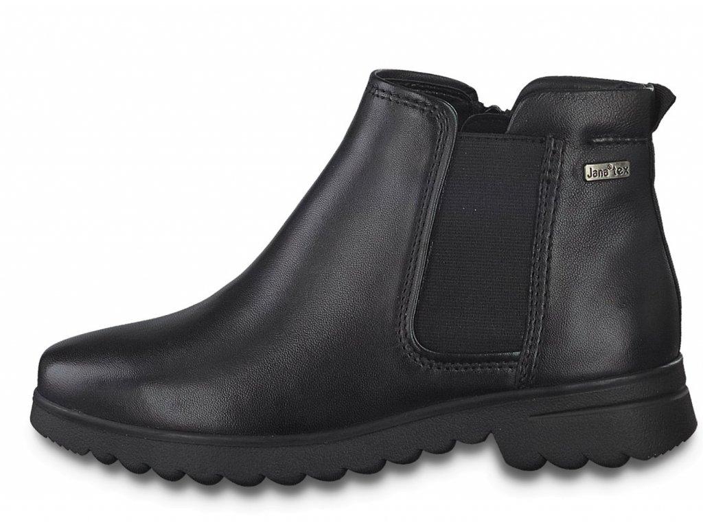 Dámské kotníkové boty JANA, model 8-26480-25 022 black nappa