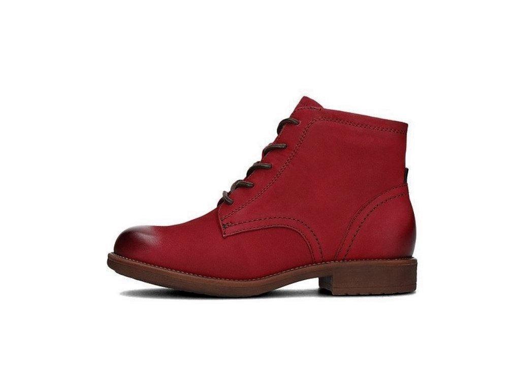 Dámské kotníkové boty TAMARIS, model 1-26235-27 529 scarlet nubuc