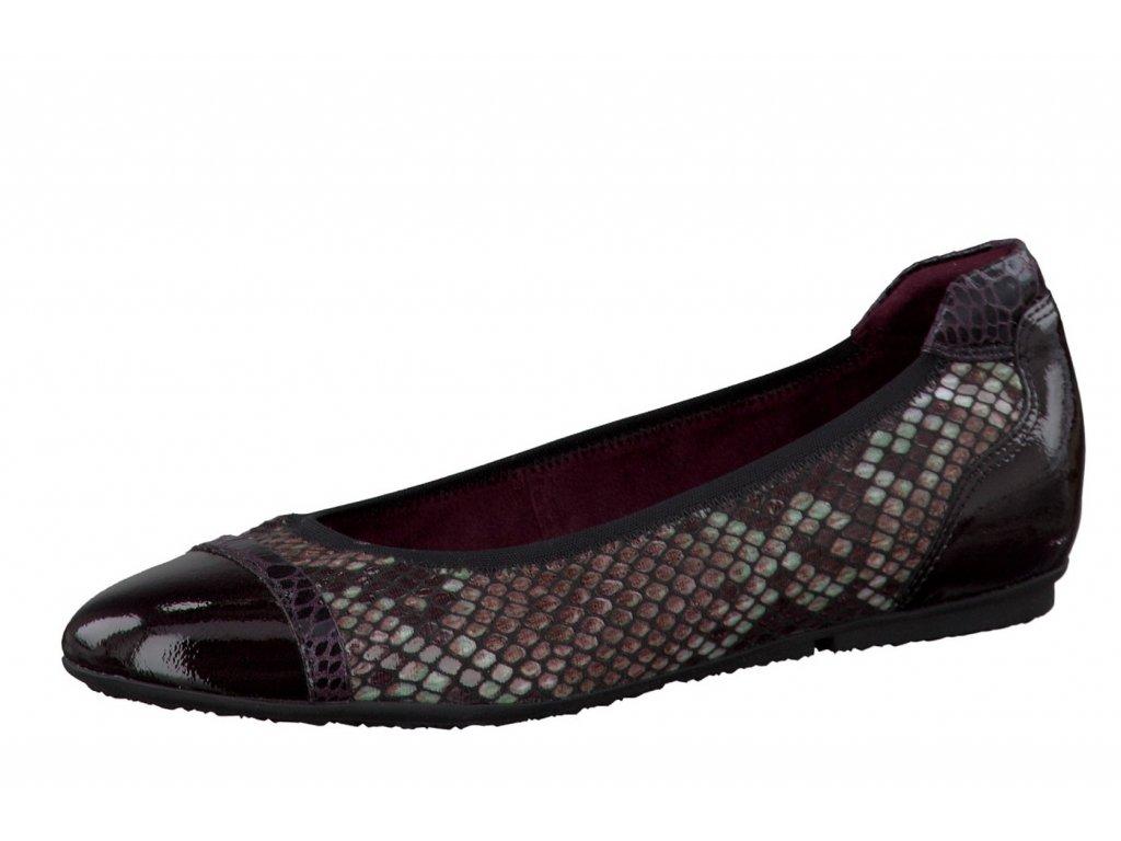Dámské balerínky TAMARIS, model 1-22101-27 550 bordeaux comb