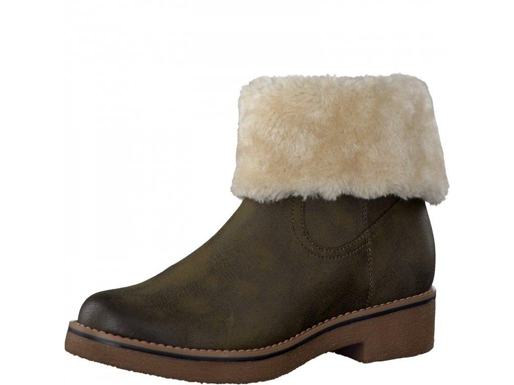 Dámské kotníkové boty s.OLIVER, model 5-26436-27 701 khaki