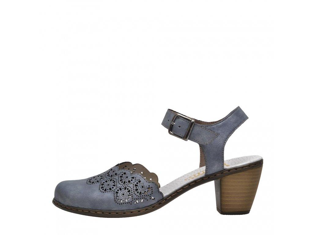 Dámská letní obuv RIEKER, model 40958-14 modrá