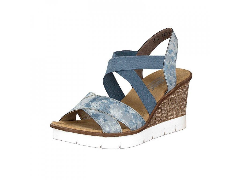 Dámská letní obuv RIEKER, model 65532-12 modrá