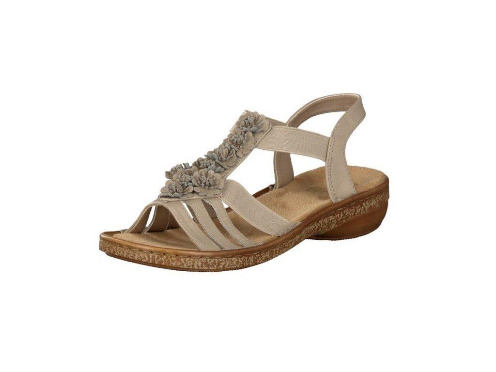 Rieker Damen Sandalette beige 62860 60