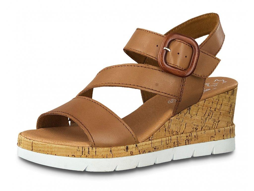 Dámská letní obuv JANA, model 8-28310-24 306 cognac uni