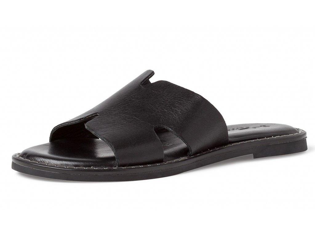 Dámské celokožené pantofle TAMARIS 1-27135-24 001 black