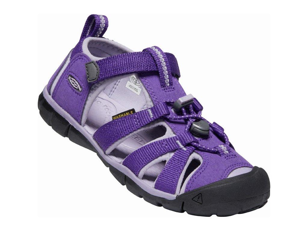 Dětské sandále KEEN, model SEACAMP II CNX, barva royal purple/lavender gray