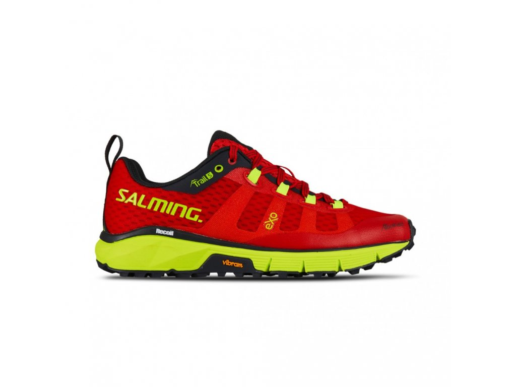 salming trail 5 women poppy red safety yellow