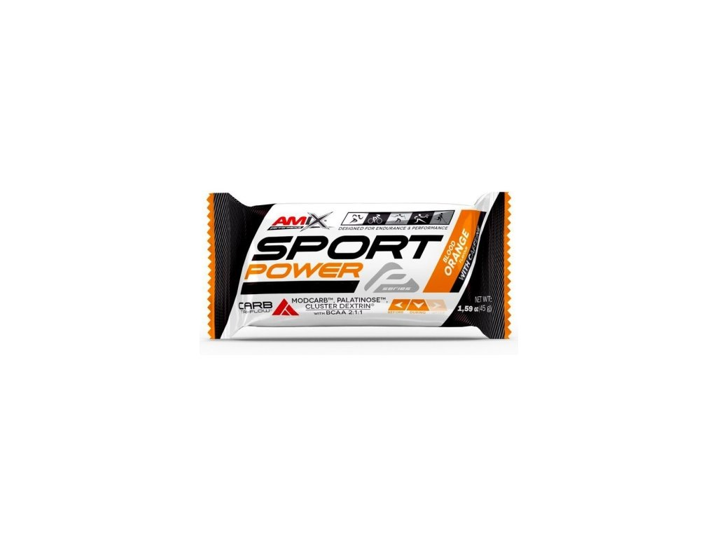 amix sport power energy bar s kofeinem 45g