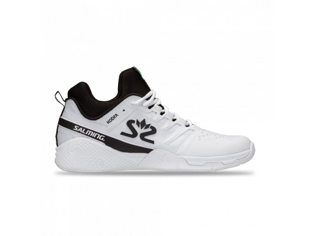 salming kobra mid 3 shoe men white black