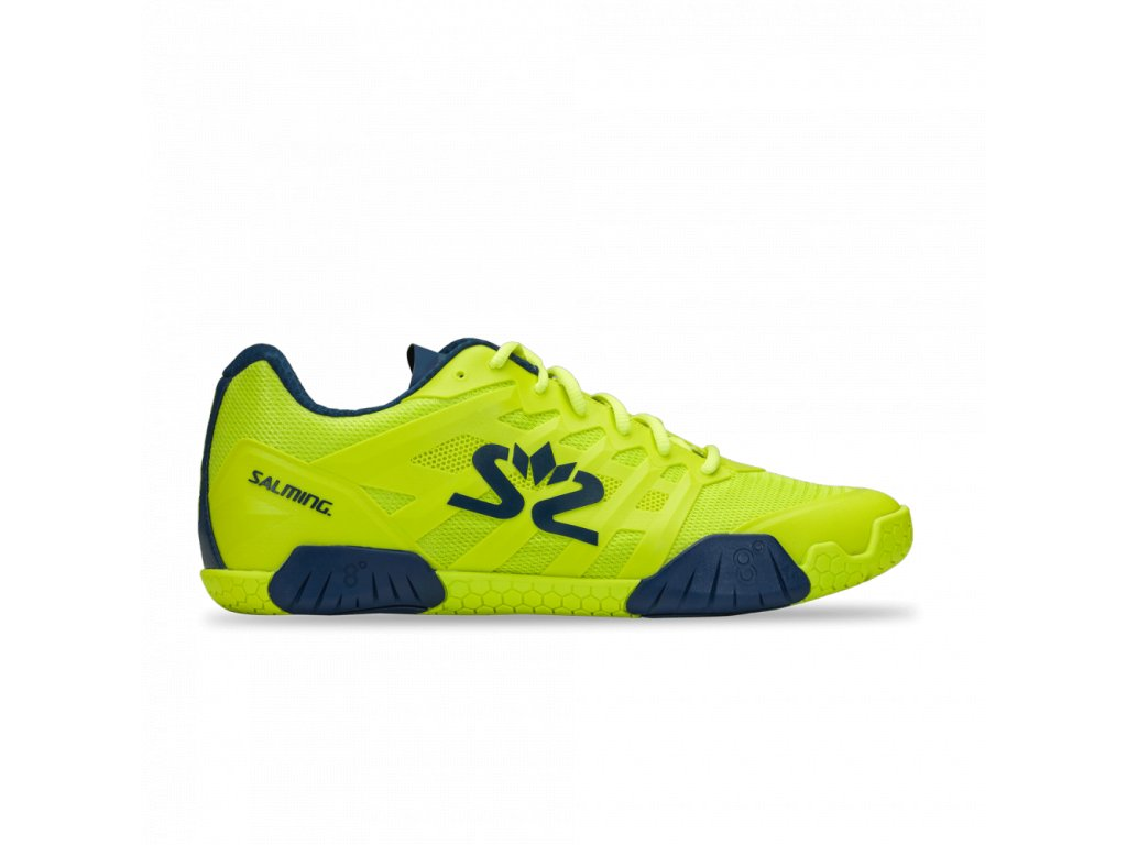 salming hawk 2 shoe men fluo green navy