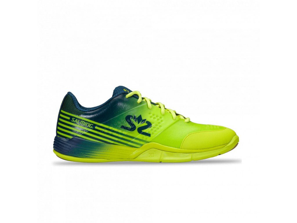 salming viper 5 shoe men fluo green navy