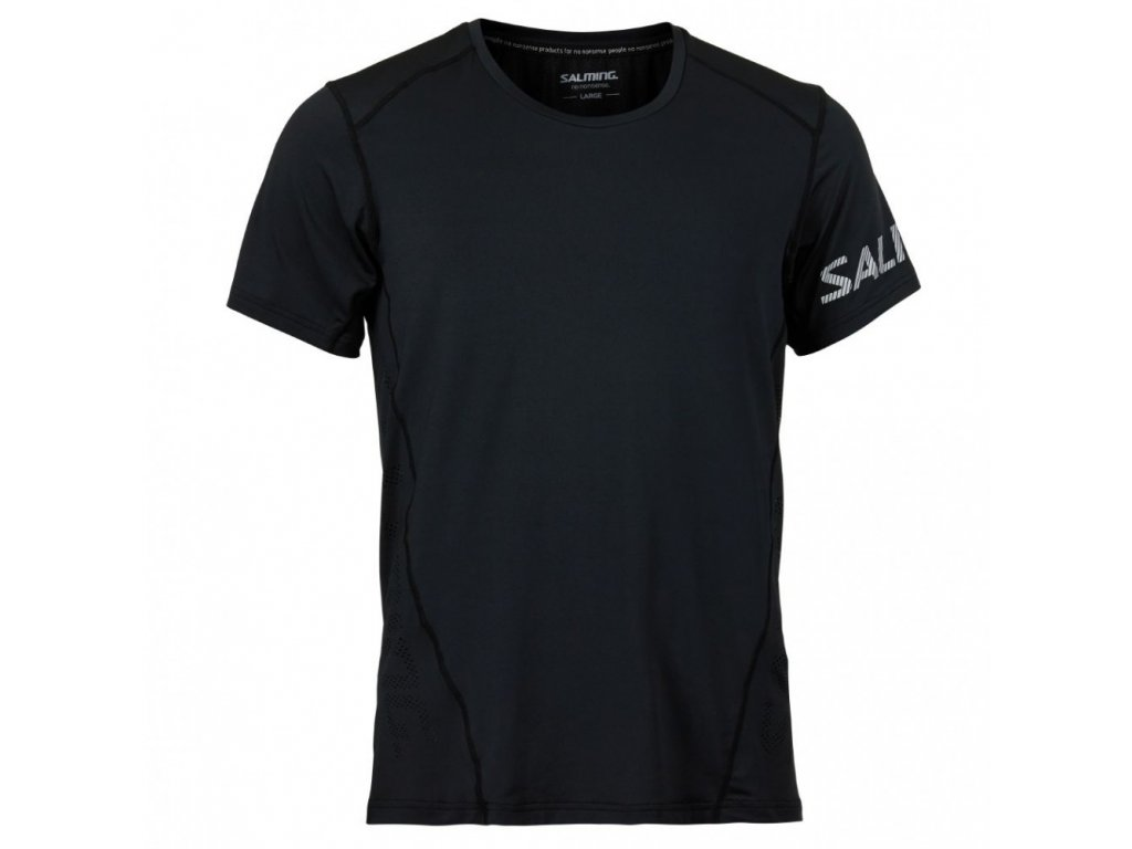 salming laser tee men black