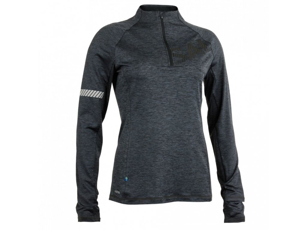 salming phase halfzip women dark grey melange