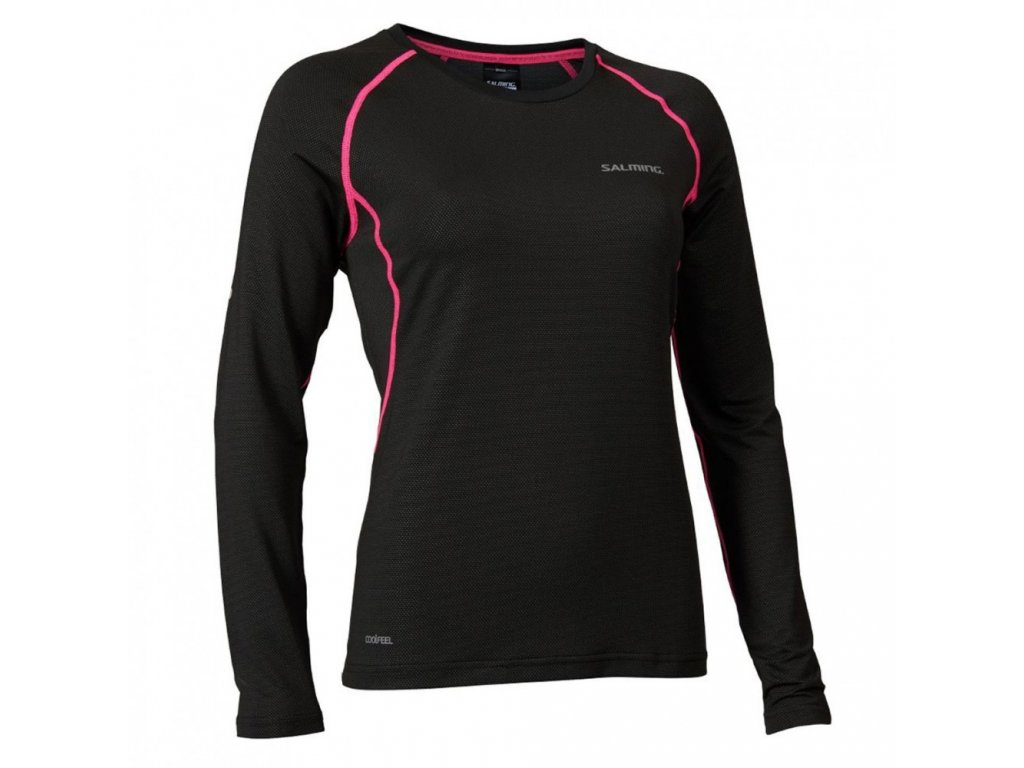 salming balance ls tee women black