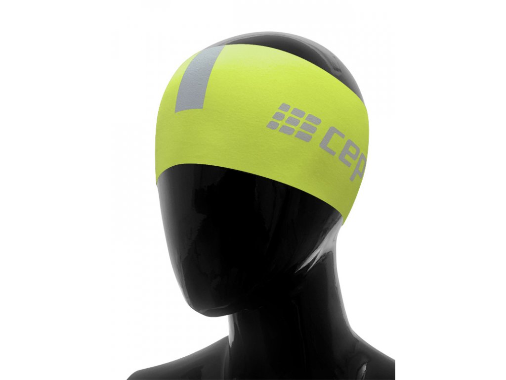 Čelenka CEP limetková / světle šedá L/XL (obvod hlavy 57 – 63 cm)