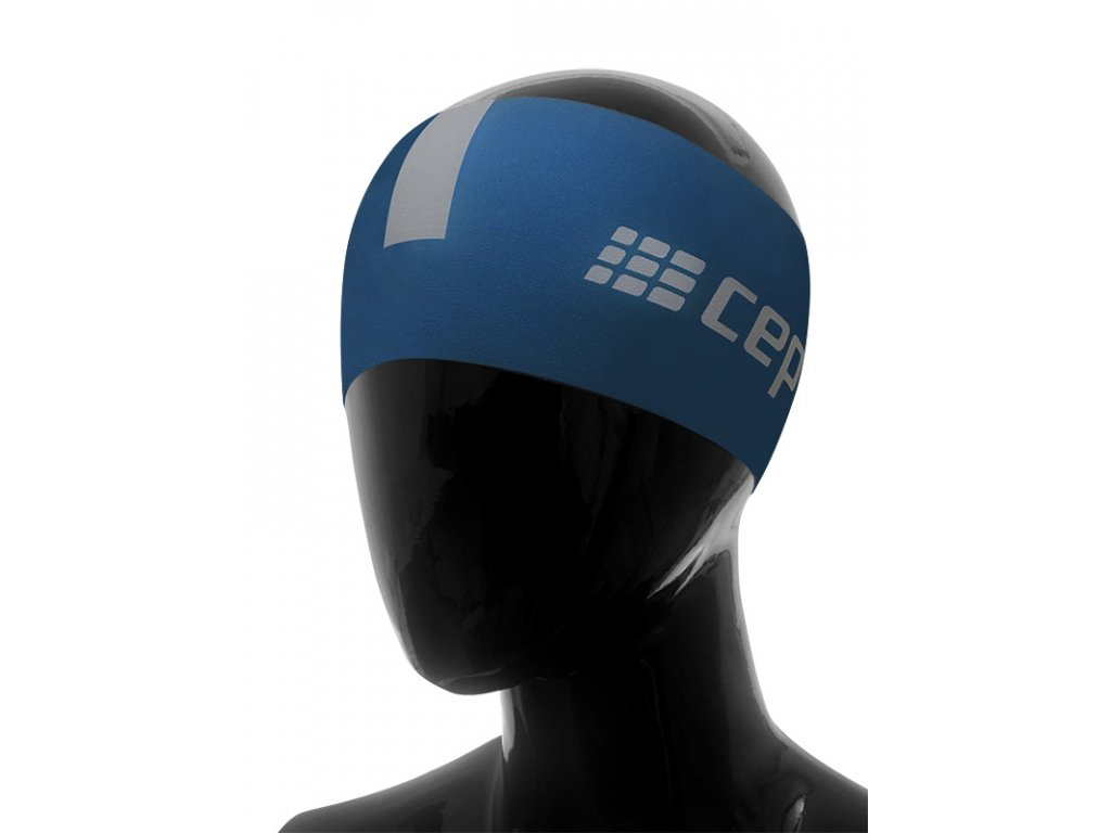 Čelenka CEP modrá / šedá S/M (obvod hlavy 51 – 56 cm)
