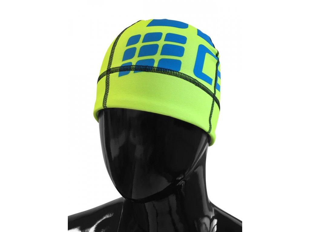 Čepice CEP S/M (obvod hlavy 51 – 56 cm) zelená fluo / elektrická modř