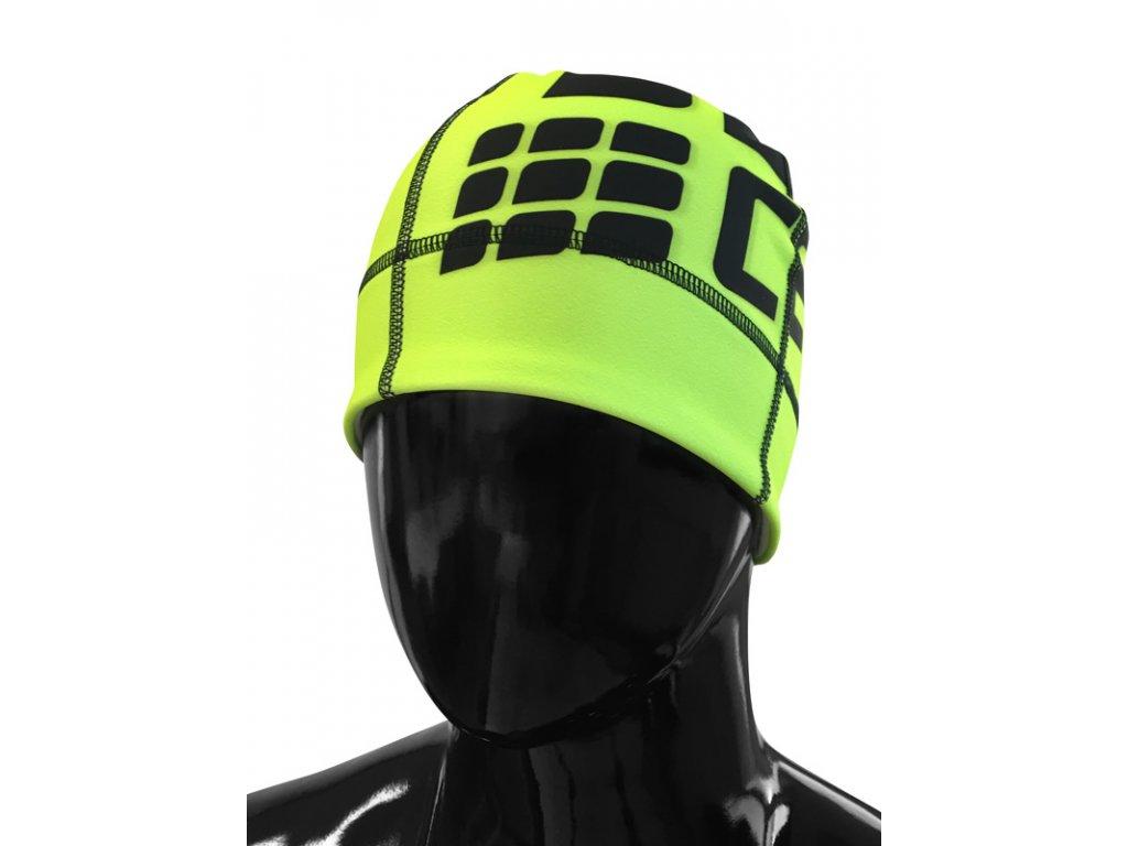 Čepice CEP zelená fluo / černá S/M (obvod hlavy 51 – 56 cm)