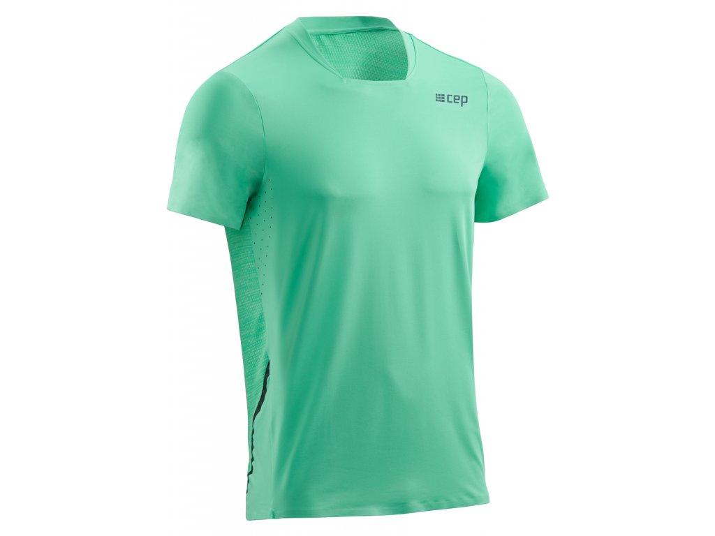 Běžecké tričko s krátkým rukávem pánské mentolová S