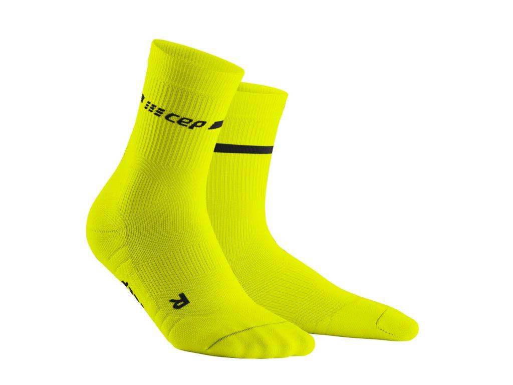 Vysoké ponožky NEON dámské neonově žlutá II