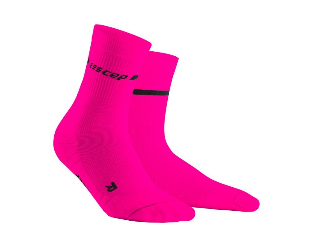 Vysoké ponožky NEON dámské neonově růžová II