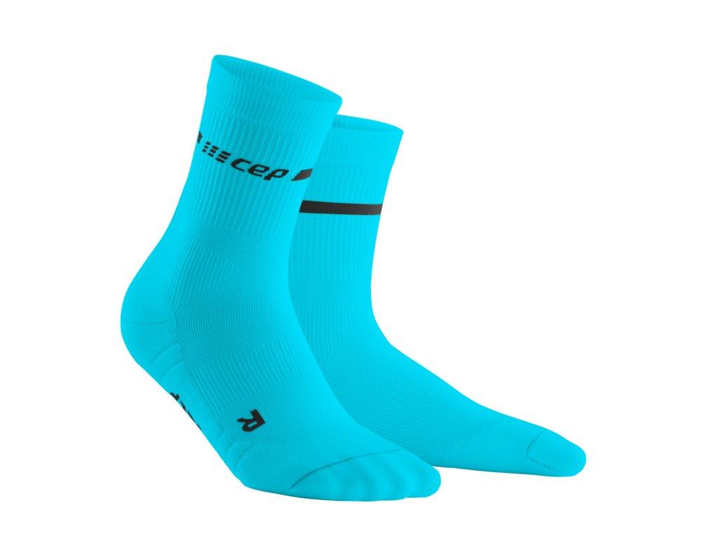 Vysoké ponožky NEON pánské neonově modrá III