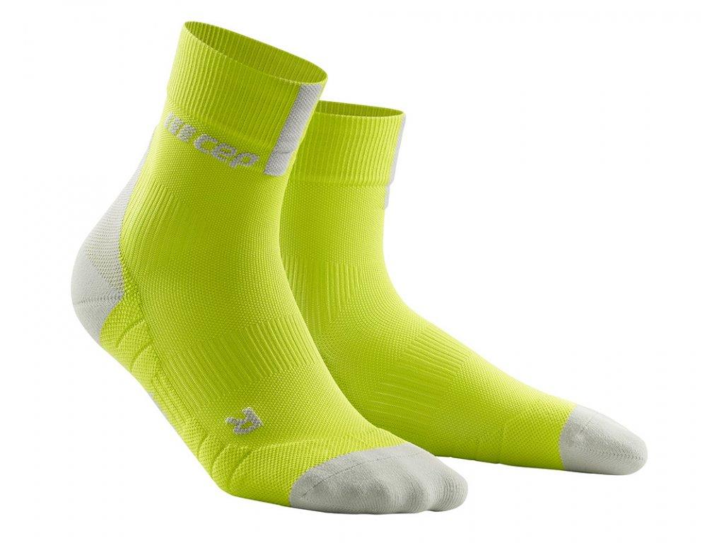 Krátké ponožky 3.0 pánské limetková / světle šedá III
