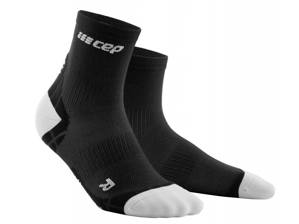 Krátké ponožky ULTRALIGHT pánské černá / světle šedá III
