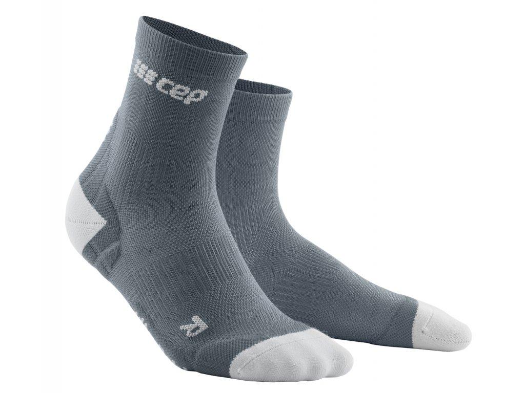 Krátké ponožky ULTRALIGHT pánské šedá / světle šedá III