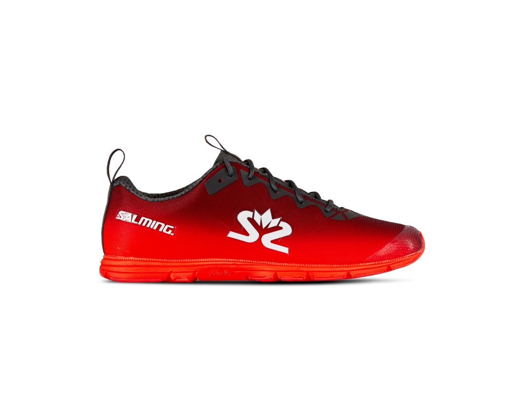 SALMING Race 7 Shoe Women Forged Iron/Poppy Red